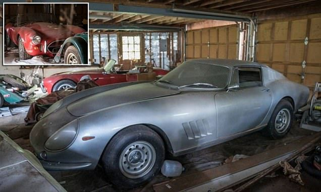 Ferrari 275 and Shelby Cobra untouched for 27 years found