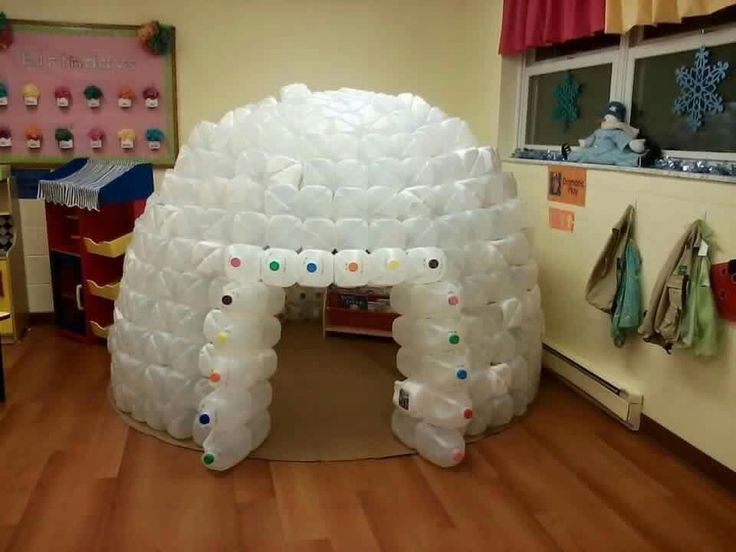 What fun save your milk jugs imagination station for How to build an igloo out of milk jugs