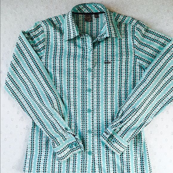 Cruel Girl button down Cruel Girl button down top. Excellent condition. Brown, teal and white. Cruel Girl Tops Button Down Shirts