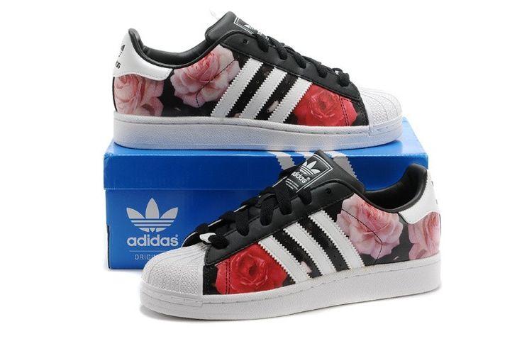 Rood Rozen Print Adidas Superstar 2 Dames/Heren Schoenen Nieuwe Collectie 2015