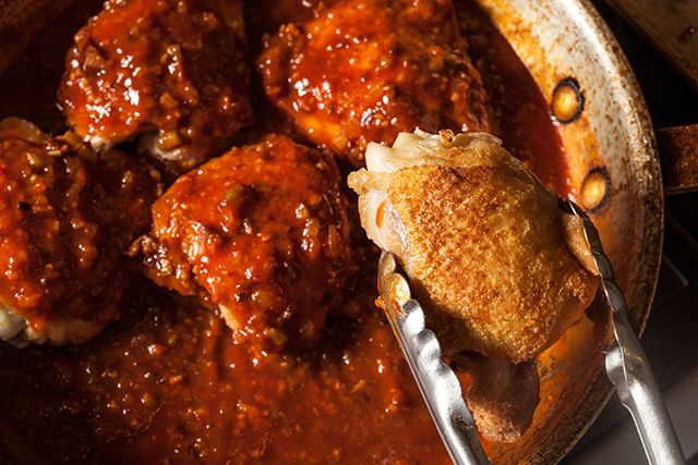 Boneless, skinless chicken breasts may be the top-selling cut at the supermarket, but shrewd cooks know that chicken thighs are actually the way to go. Not only are they less