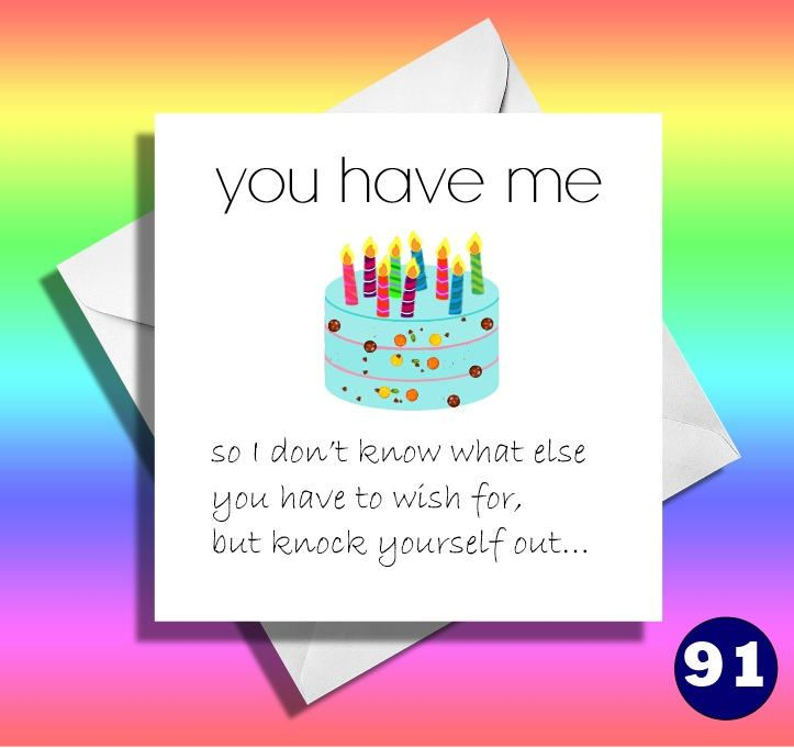 You Have Me Funny Birthday Card Funny Greeting Card Boyfriend Girlfriend Wife Husband Fiance Partner Funny Birthday Cards Birthday Cards Funny Greeting Cards