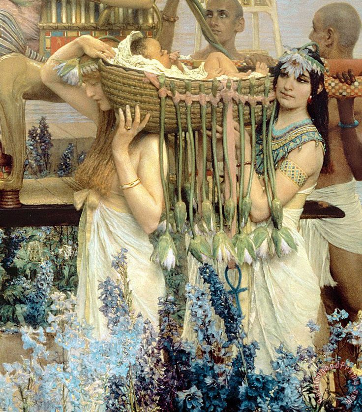 The Finding of Moses by Pharaoh's Daughter painting - Sir Lawrence Alma-Tadema