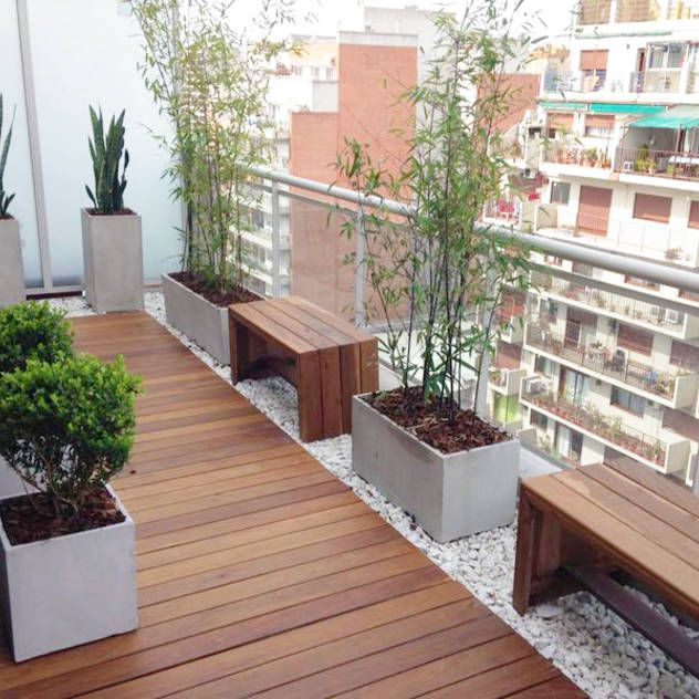 Balcon Terraza Moderno : Balcones y terrazas modernos de Estudio Nicolas Pierry: Diseño en Arquitectura de Paisajes & Jardines