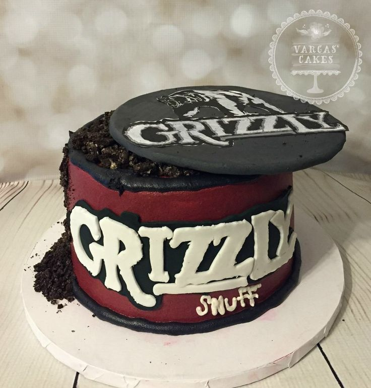 Grizzly snuff birthday cake