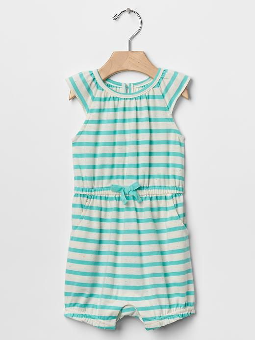 Stripe flutter shortie one-piece Product Image