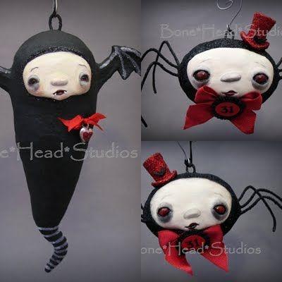 Halloween vampire bat - spiders