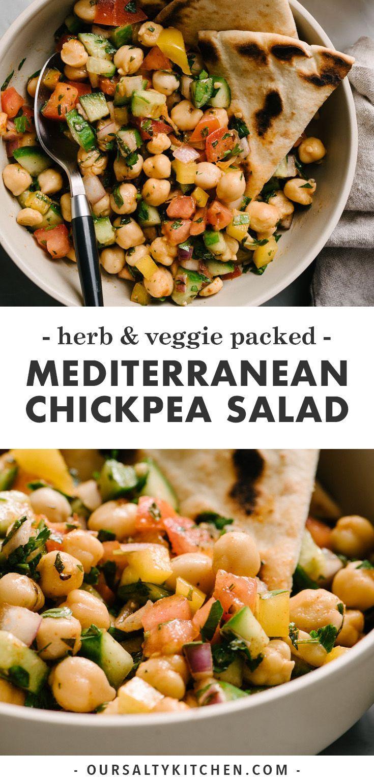 Mediterranean Chickpea Salad Recipe Mediterranean Chickpea Salad Chickpea Salad Healthy Recipes