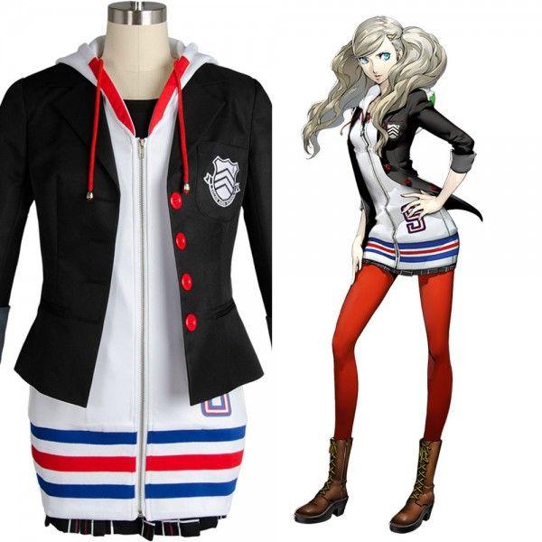 Megami Tensei Persona 5 Anne Ann Takamaki Cosplay Costume Uniform Suit Dress