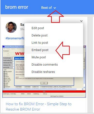 How To Embed Google Plus Posts