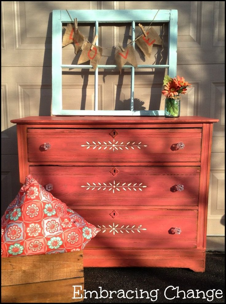 Apron Strings Milk Painted Dresser with D. Lawless Hardware Glass Knobs - Embracing Change