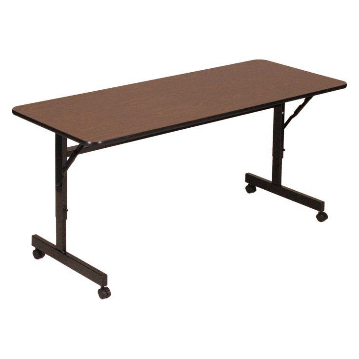 Have to have it. Correll EconoLine Flip Top Table - Melamine Top - 24x72 - $237.99 @hayneedle