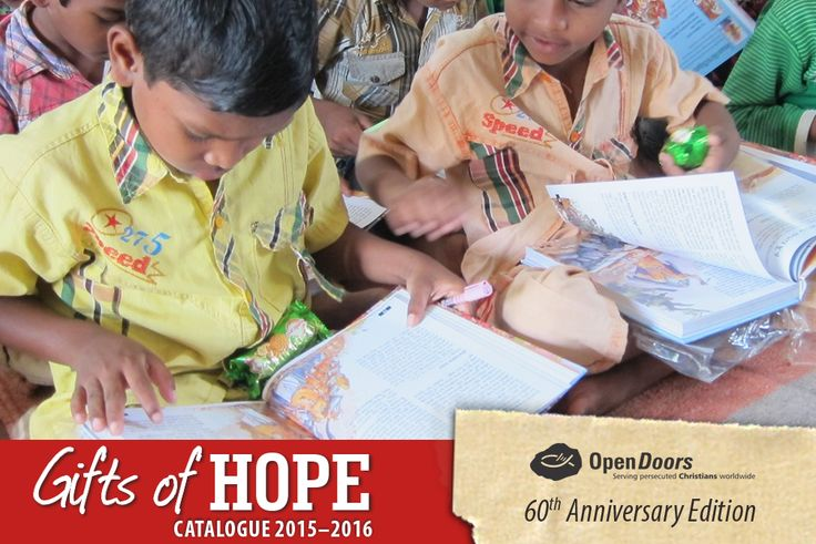 Your #GiftofHope of R 130 this #Christmas can provide one child, like Chandan with Sunday school resources. Visit our web shop to give the Gift of Hope this Christmas:  #gift #persecution