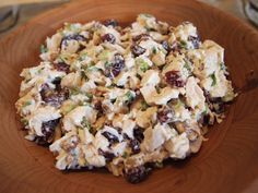 chicken salad with craisins and pecans.  I like to add a bit of blue cheese.  Delicious!
