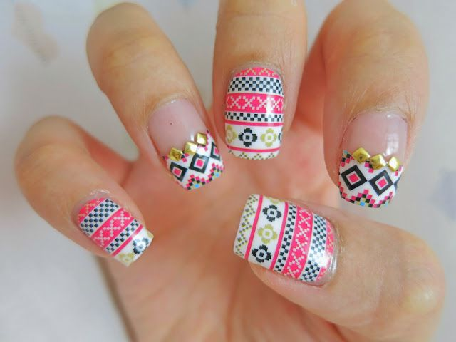 Best 25 tribal print nails ideas on pinterest nail pens nail tribal print nail art nail wrap d1003 prinsesfo Image collections