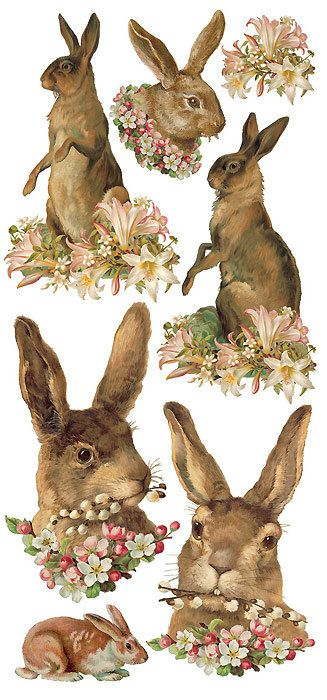 Self Adhesive Easter Bunny Rabbit Stickers 1 Sheet Colorful Scrapbooking…