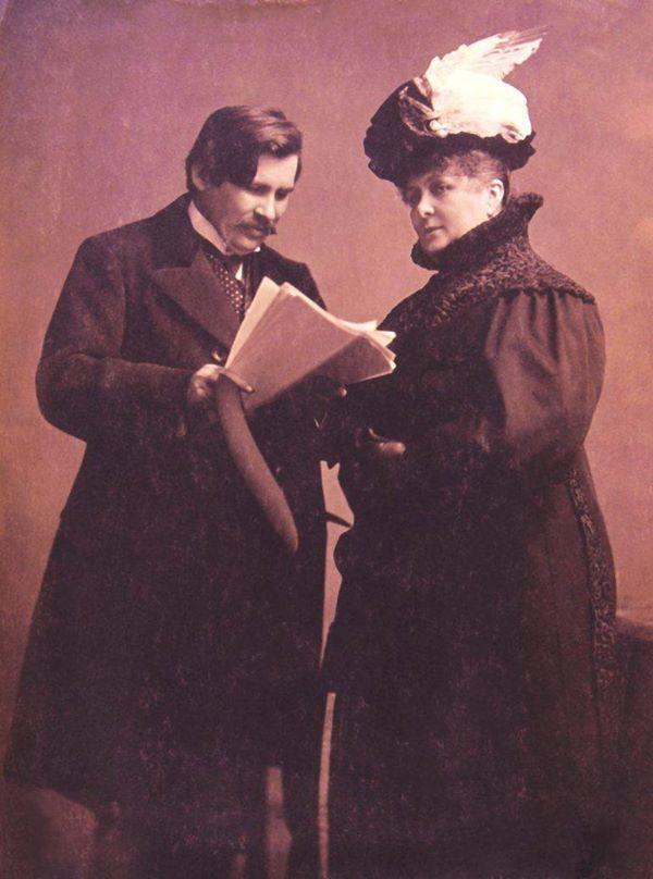Móricz Zsigmond a Sári bíróból olvas fel Blaha Lujzának - Balatonfüred, 1909