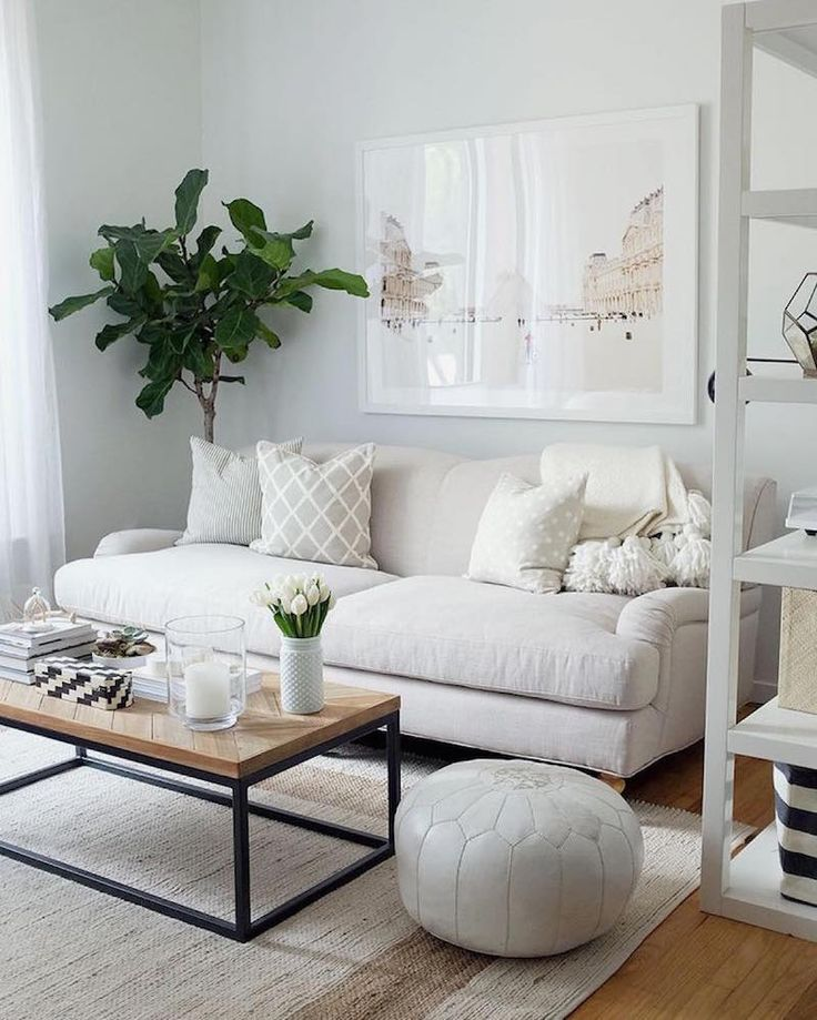 20 Inspiring Rooms In Muted Neutrals Two Bedroom ApartmentsNeutral Living RoomsLiving Room IdeasSmall RoomsGray