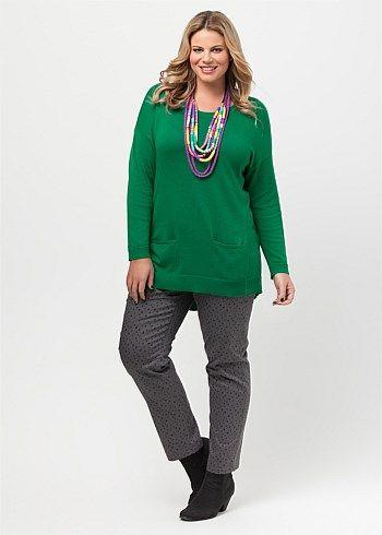 #Virtu Liza Pullover #plussize #curvy #emerald