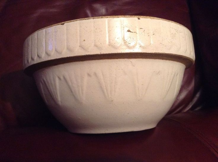 "Ruckel's Pottery Stoneware Crock Mixing Bowl 10"" #Primitive #Ruckels"