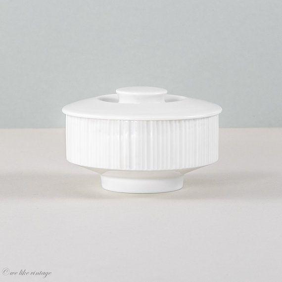Dose aus weißem Porzellan von Rosenthal weiße von WeLikeVintage