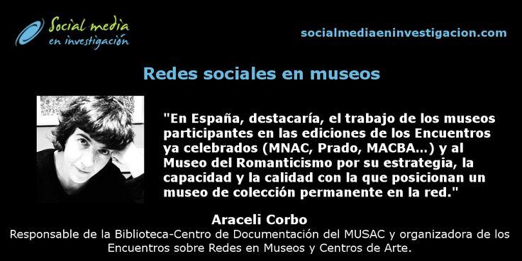Charla con Araceli Corbo sobre redes sociales en los Museos y los Encuentros sobre Redes en Museos y Centros de Arte. #RRSSMuseos #Museos #RedesSociales