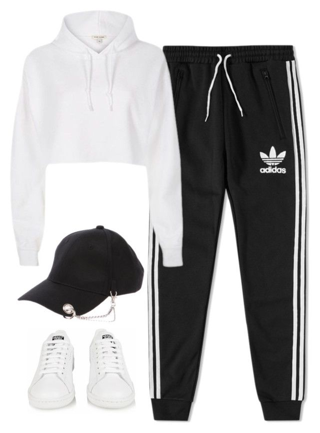 """#79 - Dance Practice"" by sorryimnotbarbie ❤ liked on Polyvore featuring adidas and River Island"