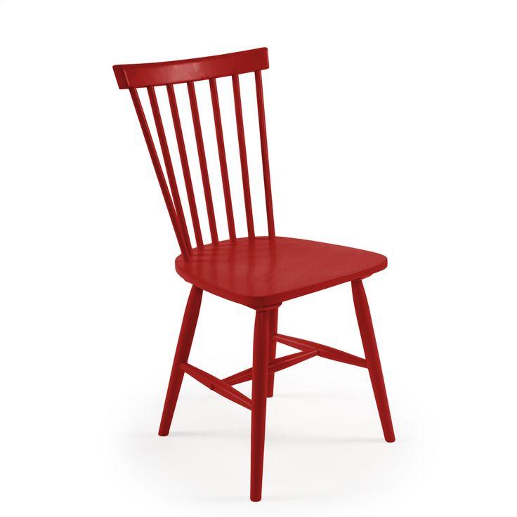 Department - Wood pinnestol H17, rød ROOM21.no