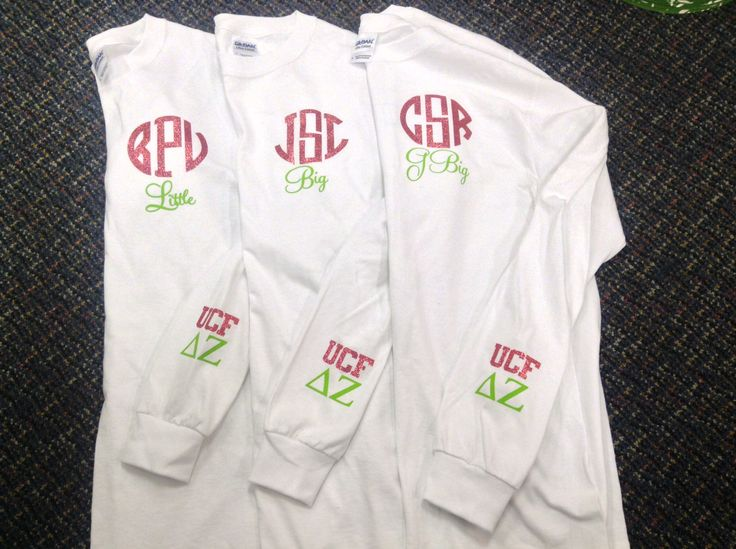 Yay! Sorority family shirts! Order: 850-460-2700 online: www.frillseekersgifts.com