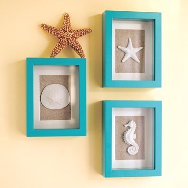 beach shadow boxes at Pottery Barn Teenagers