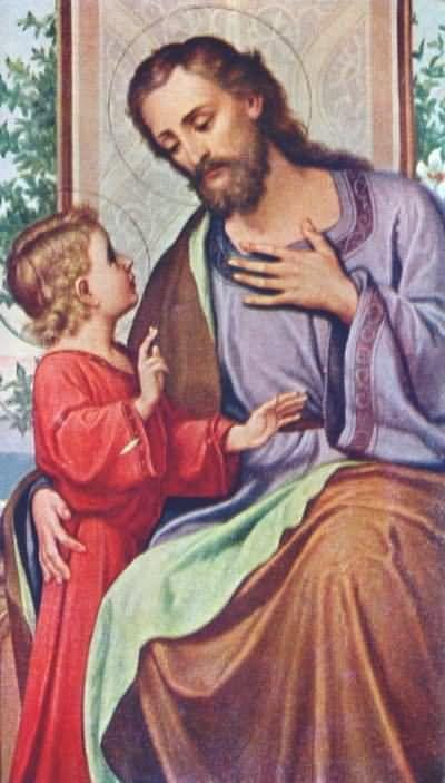 Painting - St. Joseph and the Child Jesus