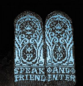 The Gates of Moria - Knit Gloves