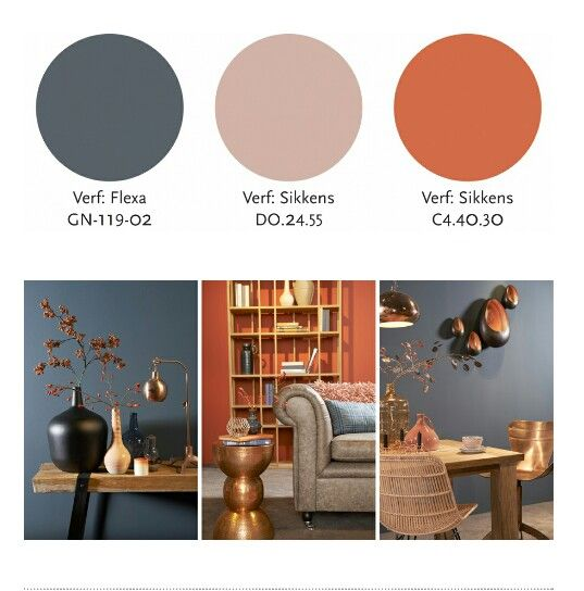 Kopergloed: Fraai metaal  vtwonen Stijl Studio 'Kopergloed' staat voor een sfeer van vriendelijkheid, vertaald in een warm, natuurlijk palet van aardetinten. Overal ter wereld valt op dat metaaltinten een toenemende rol spelen in het interieur. Een hartverwarmend spectrum van roze-, rood-, en oranjetinten laat zich prachtig integreren met vergrijsd blauw en verweerd bruin.