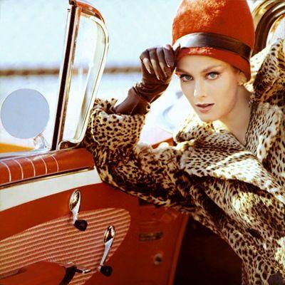 Leopard Driving Coat