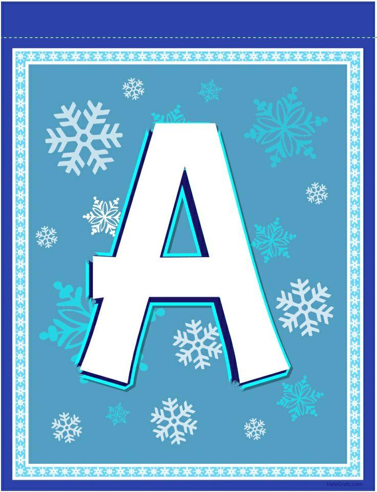 FROZEN banner letter A