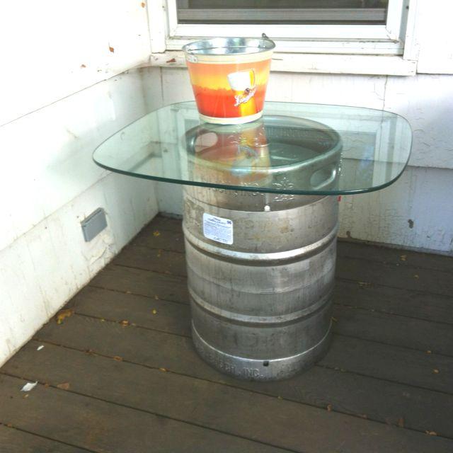 Glass Keg table.
