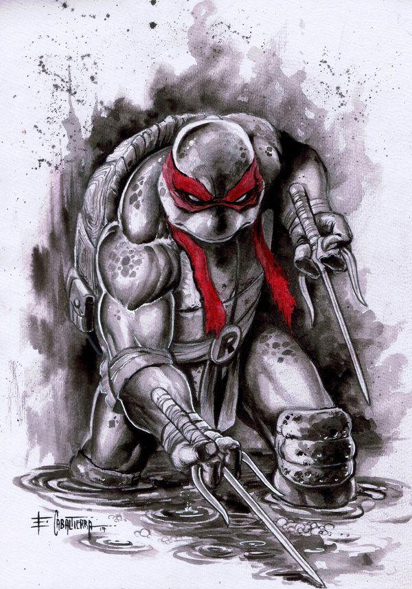 Raphael By Emil Cabaltierra Ninja Turtle Tattoos Tmnt Artwork