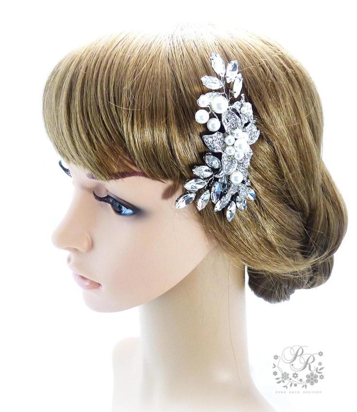 Wedding Hair Comb Swarovski Pearls Rhinestone Amp Clear