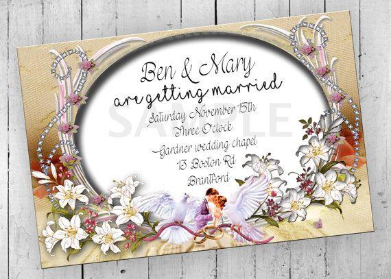 Wedding Party Invitation Printable by PartyPrintableInvite on Etsy