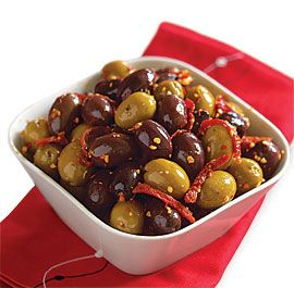 SPICY SPANISH OLIVES http://www.finecooking.com/recipes/spicy-spanish-olives.aspx ⇨ Follow City Girl at link https://www.pinterest.com/citygirlpideas/ for great pins and recipes!  ☕