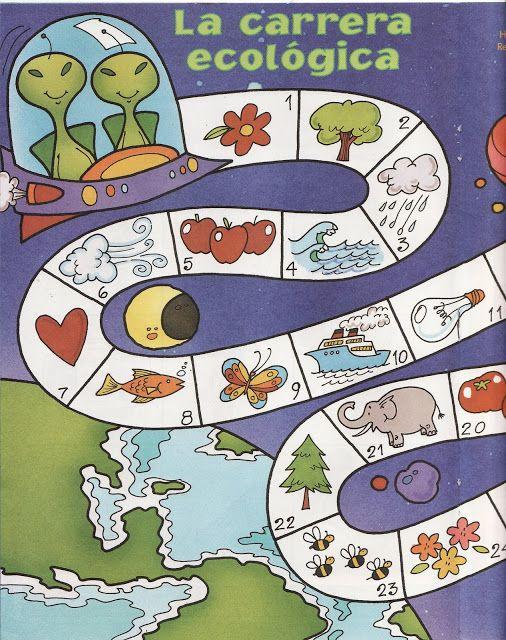Space game, free printable 2 / Juegos de mesa