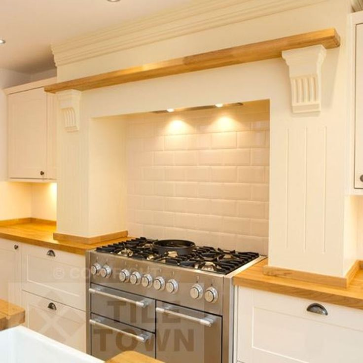 Cream Gloss Kitchen Wall Tiles: Metro Cream Wall This Cream Coloured Kitchen & Bathroom