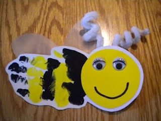 Bee handprint craft
