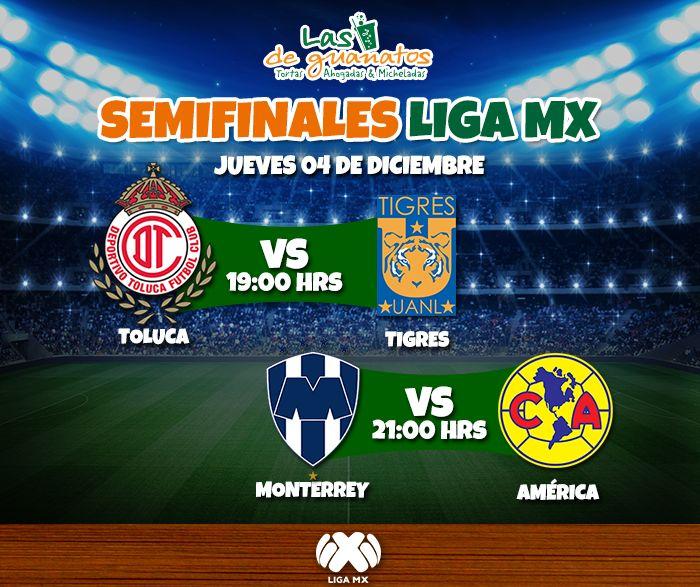 Se vienen las semifinales de la Liga MX. Este jueves no te la pierdas y disfrútala en tu sucursal favorita.   #LasDeGuanatos #Deportes #Fútbol #Liga #Mexicana #Semifinales #América #Toluca #Tigres #Monterrey #Sports #MX #Guanatos #Cancún #Mérida #Playa