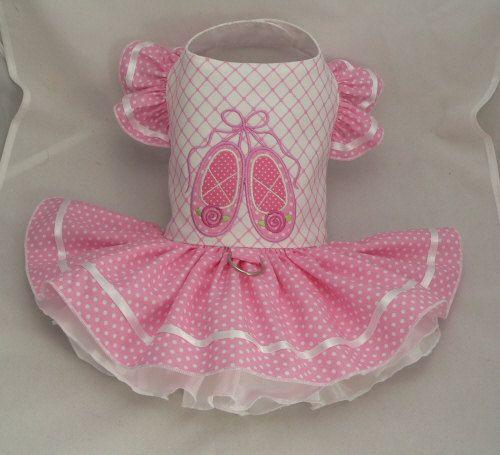 Small dog harness dress. Tutu skirt. Ballet Slippers by poshdog, $64.00