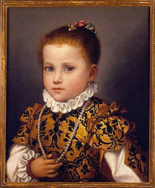 Giovanni Battista Moroni ~ Portrait of a Little Girl of the Redetti Family, c.1570