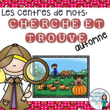 """Mots usuels:  French Sight Word Activity - """"Cherche et tro"""
