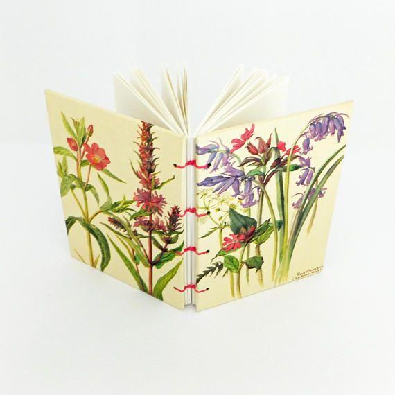 Spring Journal Botanical Notebook Bluebells Flowers Garden