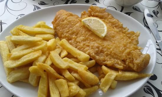 Plaice & Chips.