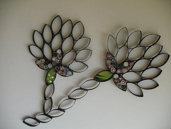 250 best toilet paper roll crafts images on pinterest for Cardboard tube flowers